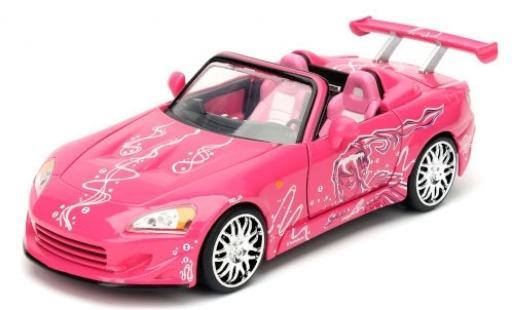 Honda S2000 1/24 Jada Tuning rose/Dekor Fast & Furious miniature