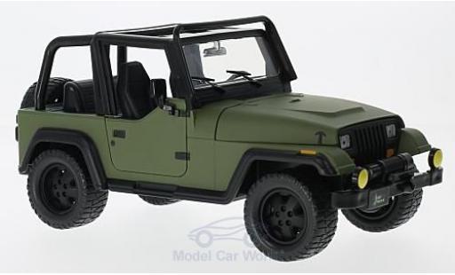 Jeep Wrangler 1/24 Jada Toys verte 1992 ohne Vitrine miniature