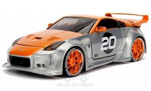 Nissan 350Z 1/24 Jada grey/orange 2003 diecast
