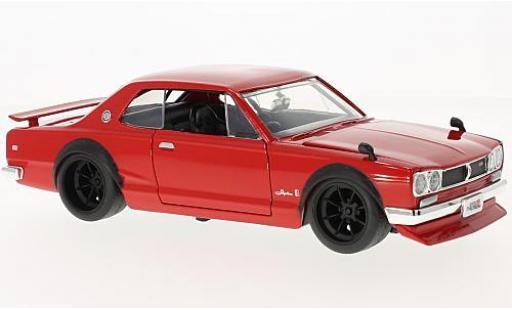 Nissan Skyline 1/24 Jada Toys 2000 GT-R (KPGC 10) rosso RHD 1971 modellino in miniatura