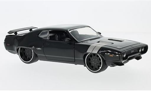 Plymouth GTX 1/24 Jada Tuning black Fast & Furious sans Vitrine diecast model cars