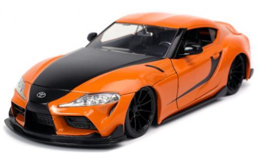 Toyota Supra 1/24 Jada GR orange/matt-noire Fast & Furious 2020 miniature