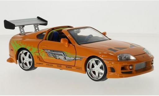 Toyota Supra 1/24 Jada Toys orange/Dekor Fast & Furious Brians modellautos