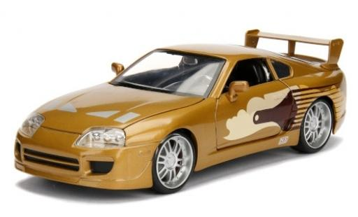 Toyota Supra 1/24 Jada Tuning metallise marrone/Dekor Fast & Furious 1995 modellino in miniatura
