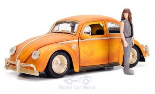 Volkswagen Beetle 1/24 Jada Toys Toys Toys Toys Transformers Bumblebee mit Charlie Figur miniature