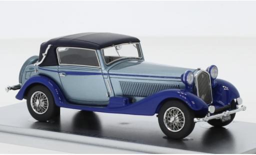 Alfa Romeo 6C 1/43 Kess 1750 GTC Castagna metallise bleue/bleue RHD 1931 Verdeck fermé miniature