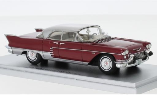 Cadillac Eldorado 1/43 Kess Brougham metallise rosso/grigio 1957 modellino in miniatura