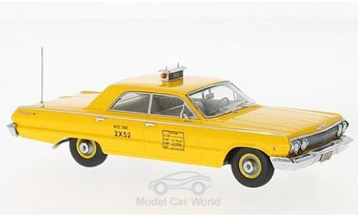 Chevrolet Biscayne 1/43 Kess yellow N.Y.C Taxi 1963 diecast model cars