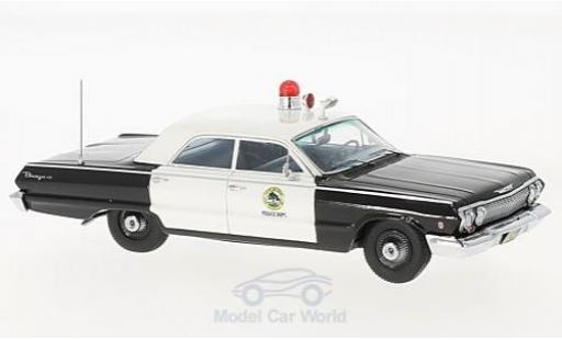Chevrolet Biscayne 1/43 Kess noire/blanche San Carlos Police Dept. 1963 miniature