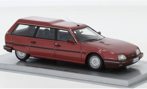 Citroen CX 1/43 Kess 25 TRD Turbo 2 Break métallisé rouge 1986 miniature