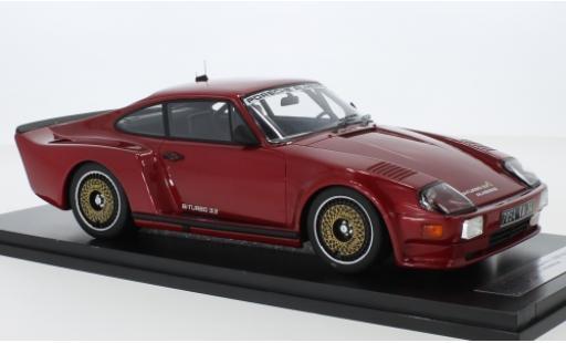 Porsche 993 Turbo 1/18 Kess 911 (930) Biturbo 3.3 Almeras metallise red 1 diecast model cars