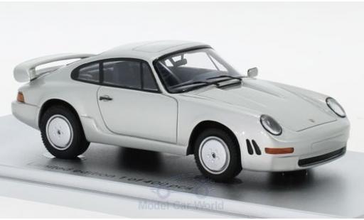 Porsche 911 1/43 Kess Carrera 3.2 E19 grise 1984 miniature