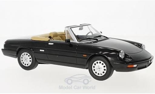 Alfa Romeo Spider 1/18 KK Scale 4 black 1990 diecast model cars