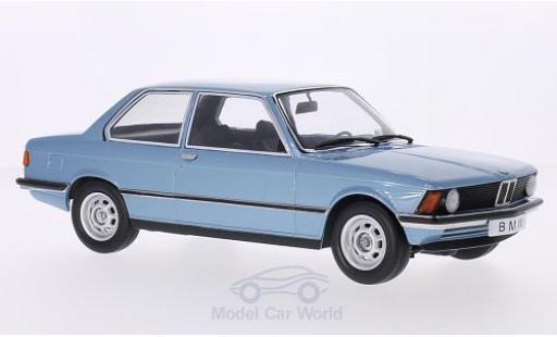 Bmw 318 E21 1/18 KK Scale i  metallise bleue 1975 Türen und Hauben sind nicht zu öffnen miniature