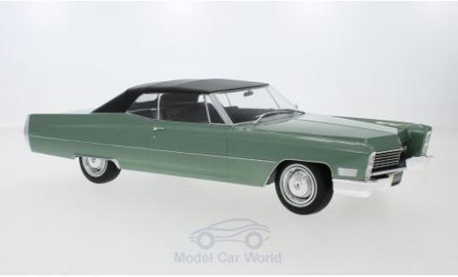 Cadillac Deville 1/18 KK Scale DeVille Convertible metallise green/black 1968 mit Softtop diecast model cars