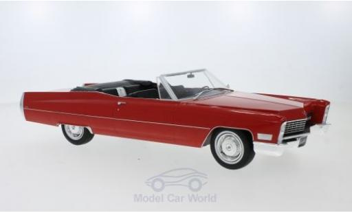 Cadillac Deville 1/18 KK Scale DeVille Convertible rouge 1968 miniature