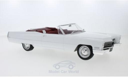 Cadillac Deville 1/18 KK Scale DeVille Convertible white 1968 diecast model cars