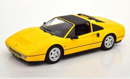 Ferrari 328 1/18 KK Scale GTS giallo 1985 Targadach détachable modellino in miniatura