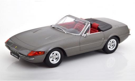 Ferrari 365 1/18 KK Scale GTS/4 Daytona Spider (2a Serie) metallise grise 1971 miniature