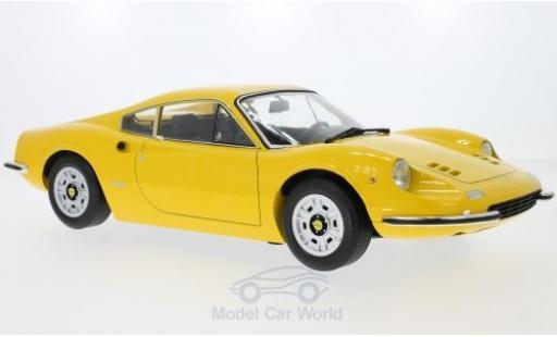 Ferrari Dino 1/12 KK Scale 246GT jaune 1973 miniature
