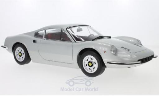 Ferrari Dino 1/12 KK Scale 246GT grise 1973 miniature