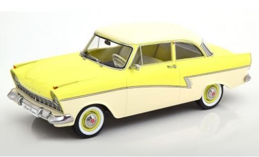 Ford Taunus 1/18 KK Scale 17M (P2) jaune/blanche 1957 miniature