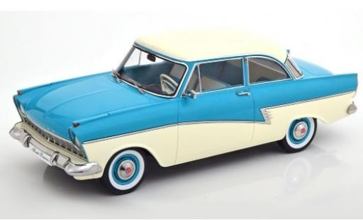 Ford Taunus 1/18 KK Scale 17M (P2) turquoise/blanche 1957