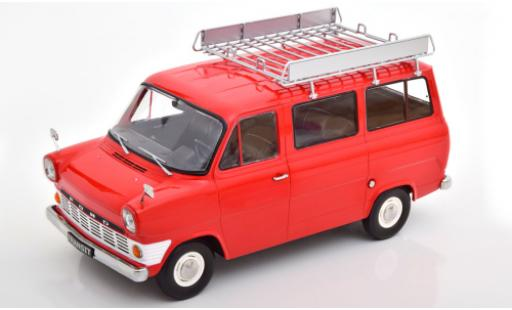 Ford Transit 1/18 KK Scale MK 1 Bus rouge 1965 avec Rack de toit miniature