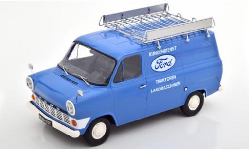 Ford Transit 1/18 KK Scale MK 1 Kasten bleue Kundendienst 1965 avec Rack de toit miniature
