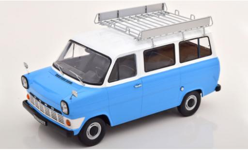 Ford Transit 1/18 KK Scale MK 1 Kombi bleue/blanche 1965 avec Rack de toit miniature