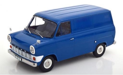 Ford Transit 1/18 KK Scale Mk1 Kasten bleue 1965 miniature