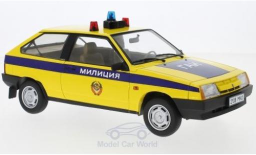 Lada Samara 1/18 KK Scale jaune/bleue Polizei SU Milizija 1984 miniature