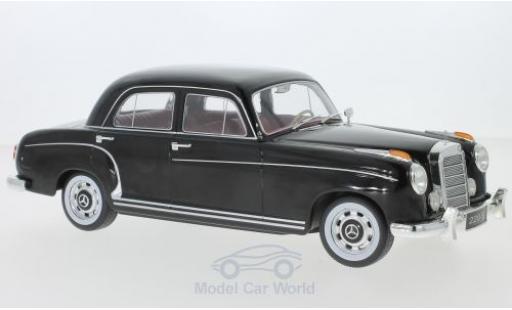 Mercedes 220 1/18 KK Scale S Limousine (W180 II) negro 1956 miniatura