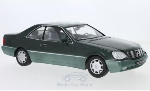 Mercedes 600 1/18 KK Scale SEC (C140) metallise green 1992 diecast model cars