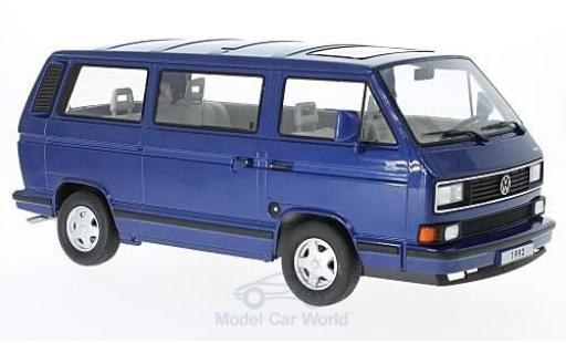 Volkswagen Bulli 1/18 KK Scale T3 Multivan metallic-blu 1992 miniatura