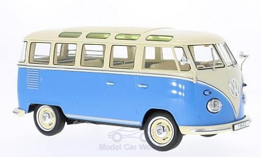 Volkswagen T1 B 1/18 KK Scale bleue/beige 1962 Samba
