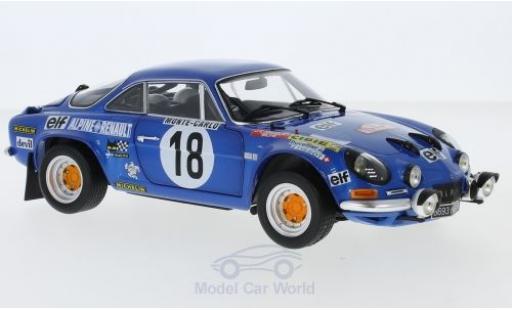 Alpine A110 1/18 Kyosho No.18 Rallye Monte Carlo 1973 J-C.Andruet/Biche diecast model cars