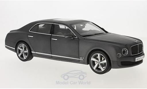 Bentley Mulsanne 1/18 Kyosho Speed matt-grigio 2014 modellino in miniatura
