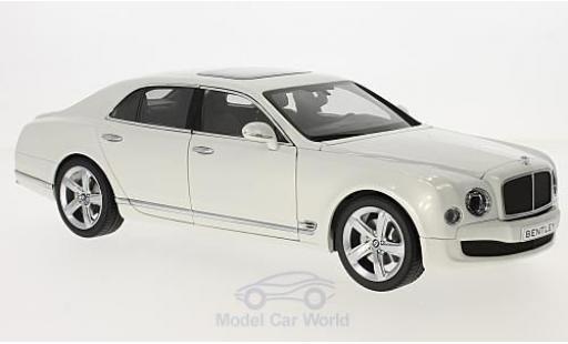 Bentley Mulsanne 1/18 Kyosho Speed bianco 2014 modellino in miniatura
