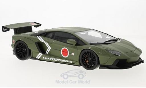 Lamborghini Aventador 1/18 Kyosho LB Performance matt-oliv 2016 diecast model cars