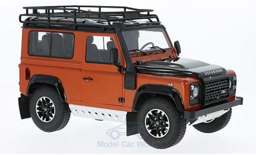 Land Rover Defender 1/18 Kyosho 90 Adventure metallise orange/noire miniature