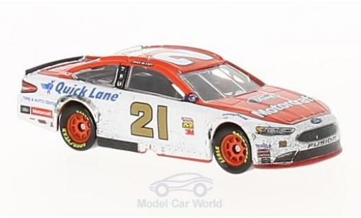 Ford Fusion 1/64 Lionel Racing No.21 Wood 21 Brougehers Motorcraft Pocono Win Nascar 2017 R.Blaney miniature