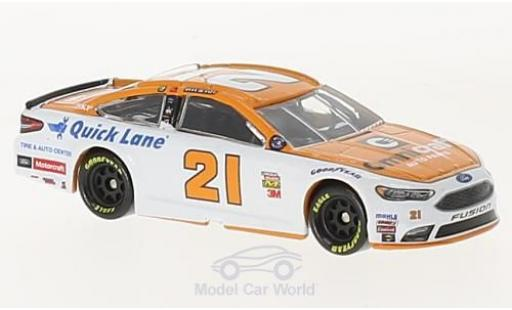 Ford Fusion 1/64 Lionel Racing No.21 Wood 21brougehers Omnicraft Nascar 2017 R.Blaney ohne Vitrine miniature