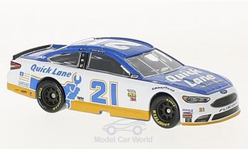 Ford Fusion 1/64 Lionel Racing No.21 Wood 21brougehers Quick Lane Nascar 2017 R.Blaney ohne Vitrine miniature