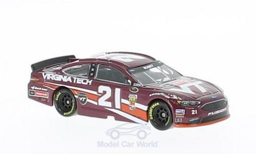 Ford Fusion 1/64 Lionel Racing No.21 Wood Brougehers Virginia Tech Nascar 2016 R.Blaney ohne Vitrine miniature