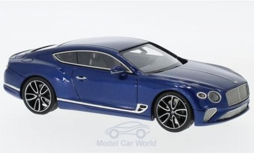 Bentley Continental 1/43 Look Smart GT metallico blu 2018 miniatura