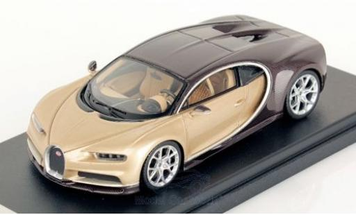 Bugatti Chiron 1/43 Look Smart metallic beige/brown diecast