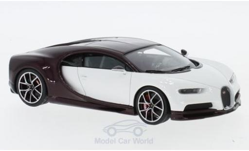 Bugatti Chiron 1/43 Look Smart blanche/dunkelviolette miniature