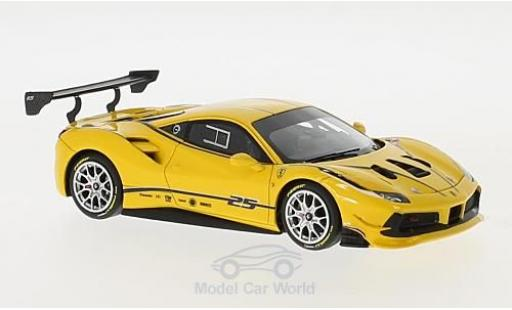 Ferrari 488 1/43 Look Smart Challenge yellow/Dekor diecast