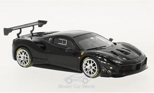 Ferrari 488 1/43 Look Smart Challenge black diecast model cars